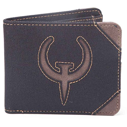 Quake Wallet Classic Logo Official Gamer Black Bifold by Quake