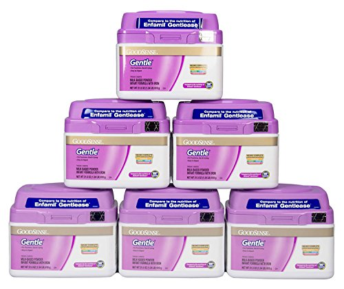GoodSense Gentle Milk-Based Powder Infant Formula with Iron, 6 Count