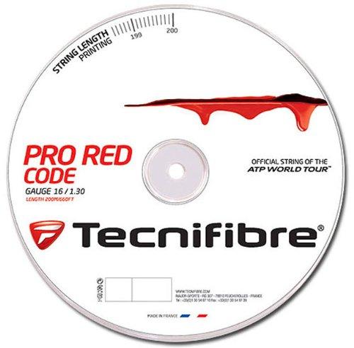 (Tecnifibre Pro Red Code 16 (1.30mm) Tennis String 200M/660ft Reel )