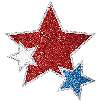 Amscan Stars Body Jewelry, Party Accessory, Red, White And Blue: Kitchen & Dining