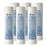 Tier1 P1 1 Micron 10 x 2.5 Spun Wound Polypropylene Sediment Pentek Comparable Replacement Water Filter 6 Pack