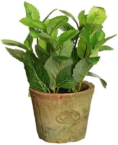 Esschert Design Artificial Herb Plant, Mint, Small (Artificial Terra Pot Cotta)