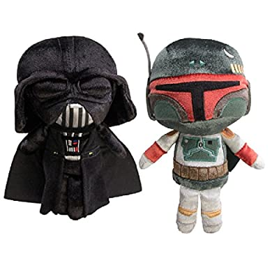 Star Wars Funko (Set of 2), Darth Vader and Boba Fett, Disney Galactic Plushies Cute Stuffed Animals Plush Toys For Kids & Adults