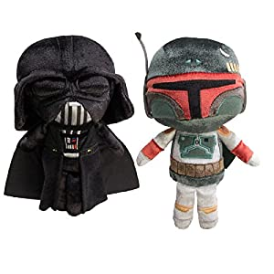 Darth Vader and Boba Fett Star Wars Funko Pop (Set of 2) Galactic Plushies Sith Lord and Mandalorian Stuffed Animals…