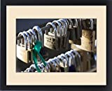Framed Print of Australia, Victoria, VIC, Melbourne, love locks attached to Yarra River