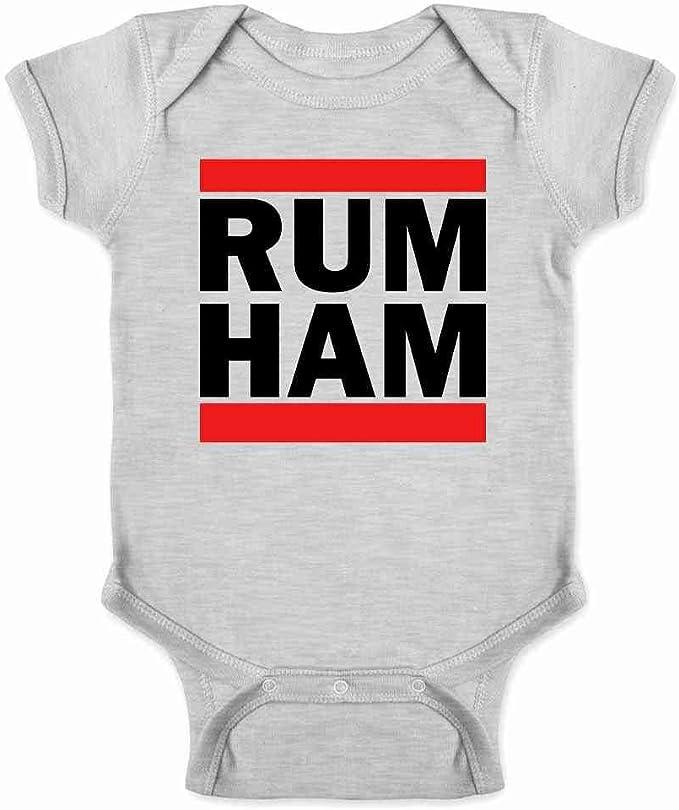 Rum Ham Printed Baby Grow