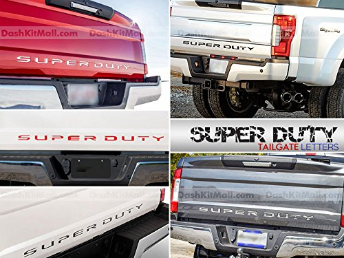 SF Sales USA - Chrome Tailgate Letters Super Duty 2017 2018 Rear Inserts Not Decals