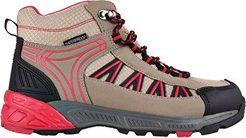 CRIVIT® OUTDOOR Damen Trekkingstiefel / Wanderstiefel rot / beige