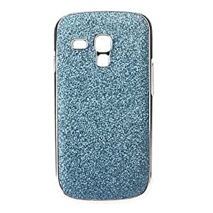 Shimmering Powder Hard Case for Samsung Galaxy S3 mini I8190 (Assorted Colors) --- COLOR:Blue