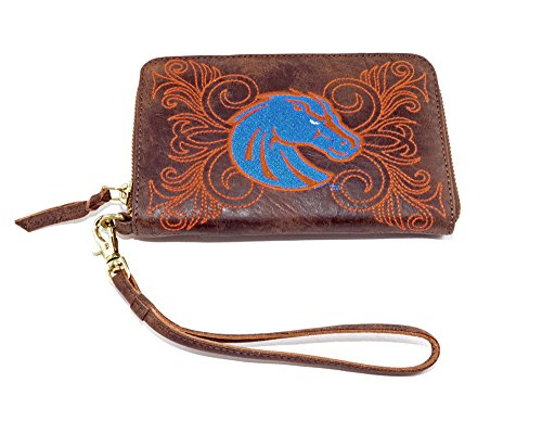 Gameday Boots Women's Boise State Wristlet, Brass, 8x5x1/2