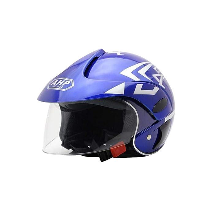 Amazon.es: Casco de Moto para niños Casco Moto Electrica para Niños para Halley Medio Casco Seguridad Otoño e Invierno Casco niños