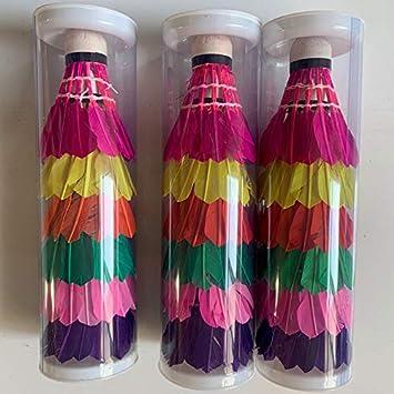 6 palline in nylon Ylinova volano per badminton durevoli per attivit/à sportive indoor e outdoor
