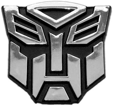 Chrome Finish Transformer Autobot Auto Emblem 2 1//2 Tall