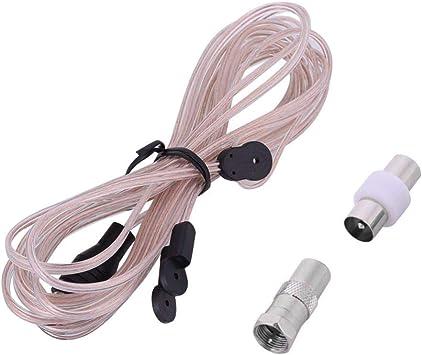 Antena dipolo de FM Radio para el hogar Receptor de FM para Interiores Antena con reemplazo de Conector Hembra de TV 85-112 MHz
