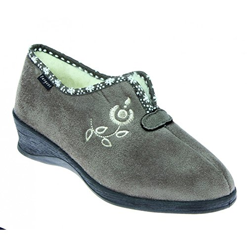 fargeot Chaussons Femme Lowell Taupe ,Taupe ,38 EU