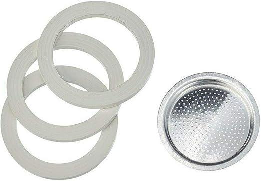 Alicia de Longhi 6 tazas 3 juntas + 1 filtro EMK6 original: Amazon ...