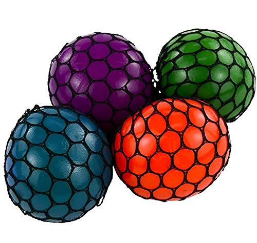 Rhode Island Novelty 3 Inch Mesh Squishy Balls, Pack of 12
