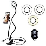 K&F Concept Multifunctional Selfie Ring Light with Cell Phone Holder Designed for Live
