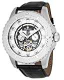 Burgmeister Men's Automatic Stainless Steel and Leather Casual Watch, Color:Black (Model: BM339-112)