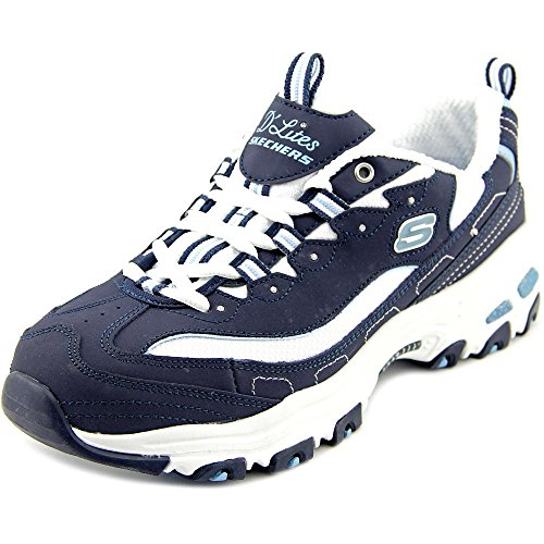 Skechers 11930 D Lites Biggest Fan - Navy/White (Blue) Womens Trainers 9 US by Skechers