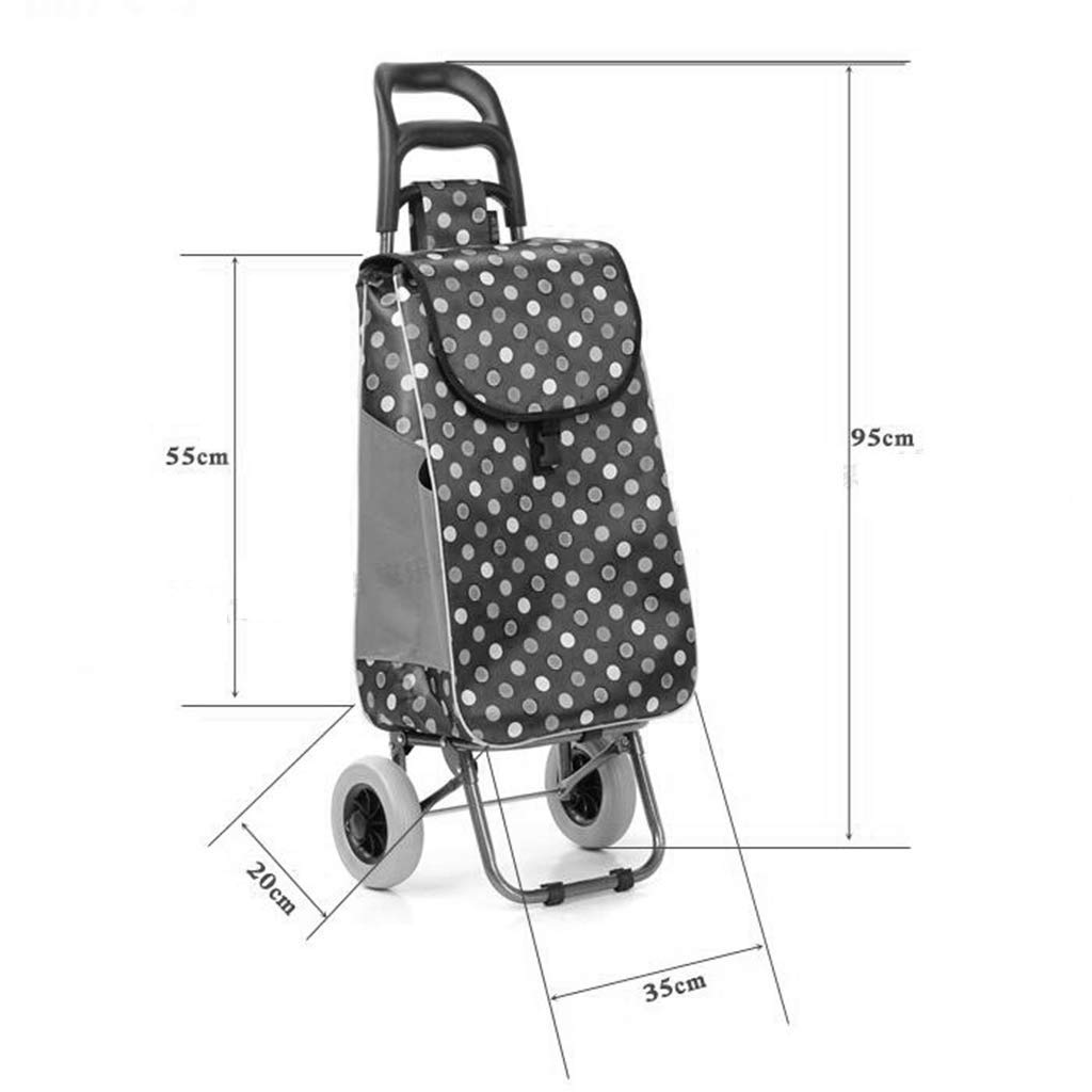 Color : A Hard Wearing /& Foldaway for Easy Storage Kylinedc High Capacity Lightweight Shopping Trolley