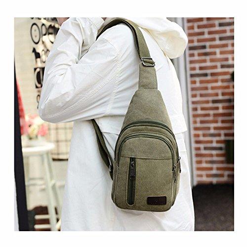 Xxszkaa Bag outdoor Bag Bag Vintage package Shoulder Messenger A3 large Capacity Sports men's Canvas Men's Bag Chest rRrwq1B