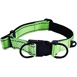JIXIUZHEN Classic Solid Color Dog Collar Collection - Regular Collars, Seatbelts, Personalized Collars and Bandana Suitable for Medium to Large Size Dog