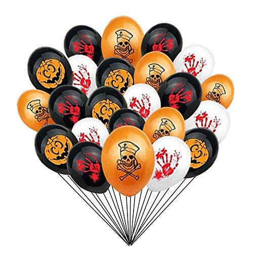 40PCS Halloween Balloons 12 Inches Ghost Balloons Pumpkin Balloons Blood Splatter Balloons for Halloween Party Decoration Supplies