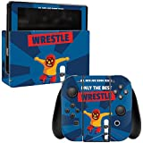 MightySkins Skin For Nintendo Switch – Best Wrestle   Protective, Durable, and Unique Vinyl Decal wrap cover   Easy To Apply, Remove, and Change Styles   Made in the USA
