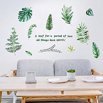 Genial Ein Grünes Blatt Wall Sticker Ideen Mädchen Schlafzimmer Wanddekorationen  Und Gemütlichen Zimmer Sind Kleine, Frische