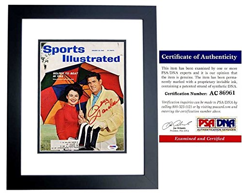 Doug Sanders Signed - Autographed Original 1962 Sports Illustrated Magazine BLACK CUSTOM FRAME - PSA/DNA Certificate of Authenticity (COA)