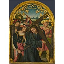 The high quality polyster Canvas of oil painting 'German North Christ carrying the Cross ' ,size: 8 x 11 inch / 20 x 28 cm ,this Replica Art DecorativePrints on Canvas is fit for Basement decoration and Home decoration and Gifts