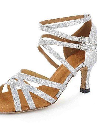 ShangYi sandales femmes latines personnalisées talon avec des chaussures de danse de buckie (plus de couleurs) , silver-us8.5 / eu39 / uk6.5 / cn40 , silver-us8.5 / eu39 / uk6.5 / cn40