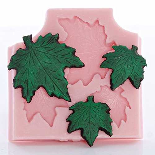 Maple Leaf Silicone Mold use with Fondant, Candy, Chocolate, Food Safe, Polymer Clay, Resin Mold, Epoxy Perfect Size to make a Pendant and Earrings.