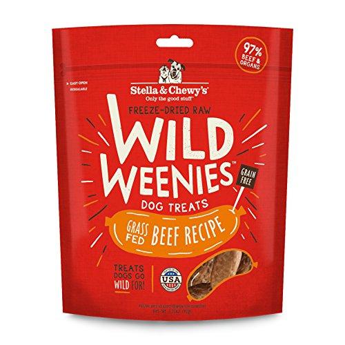(Stella & Chewy's Freeze-Dried Raw Beef Wild Weenies Dog Treats, 3.25 oz bag)