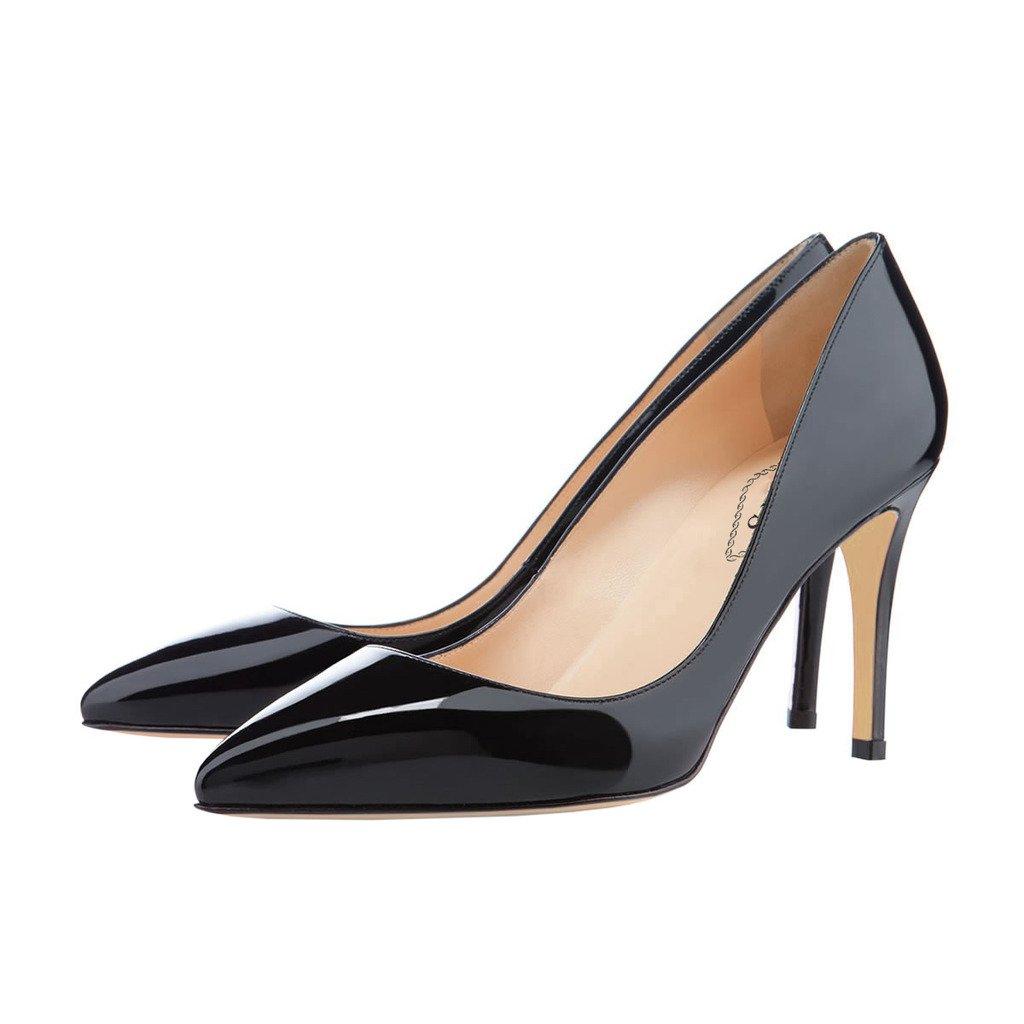 EKS   Sexy Pumps,   Damen Spitzer Zehenbereich schwarz-Patent 23c238