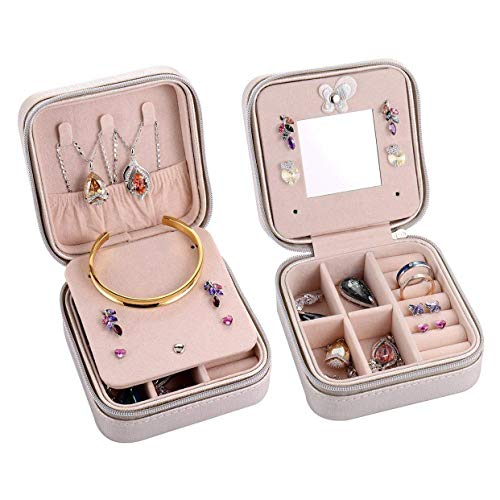 Storage Drawers - Yhys Portable Jewelry Case Travel Earring Ring Necklace Organizer Box With Zipper Silver - Countertop Mills Horizontal Rolling Crafts Heavy White Large Mini Drawer Gold Desk