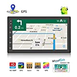 2 Din Car Stereo Android 8.1 Universal Car Radio Support GPS Navigation Rear Camera (camera not included) Multimedia Player 7' HD Touch Screen 1G+16G With Bluetooth WIFI FM AUX SD 2 USB Radio Receiver