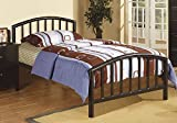 1PerfectChoice Youth Kids Bedroom Twin Bed Bold Curved Clean Lines Black Metal Frame