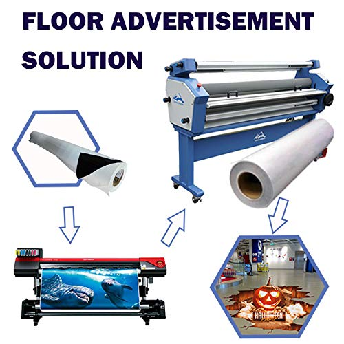 Cold Laminating Film 54'' (1.37m) Matte Floor Laminating Film 3'' Core Anti-Slip Pressure Sensitive Lamination Film UL410- US Stock by Ving (Image #6)