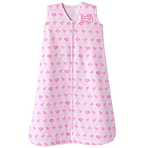Halo Sleepsack Cotton Wearable Blanket, Party Birds Pink, (Halo Kids Bedding)