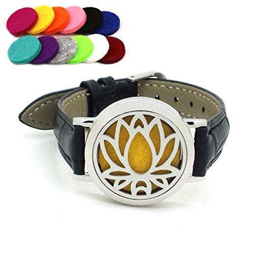 Efantina Aromatherapy Essential Oils Diffuser Bracelet Leath