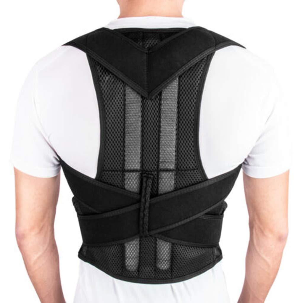 Fully Adjustable Magnetic Orthopedic Back Brace Posture Corrector for Men Women w Lumbar Support Belt - Shoulder, Neck, Upper Lower Back Pain Relief - Best Straightener Trainer by lotteQW