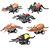 F_Gotal Toys for Boys Girls Clearace - Baby Kids Toddler Educational 6pcs Mini Vehicle Insect Pull Back Cars Learing Toys for Kids Child Adults Gifts