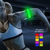 LED Slap Band, Glow-In-the-Dark Bracelet Armband (Yellow/Green)