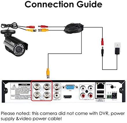 ZOSI 1080P Hybrid 4-in-1 HD TVI/CVI/AHD/CVBS 1920TVL 2.0MP CCTV Camera Home Security System 80ft Day/Night Vision Metal Waterproof Housing For 960H,720P,1080P,5MP,4K analog Surveillance DVR 51W3563RCsL