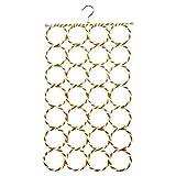 Aketek 28 Count Circles multifunctional folding hanger for socks,tie,scarf,belt,mufflers and shawl closet organization