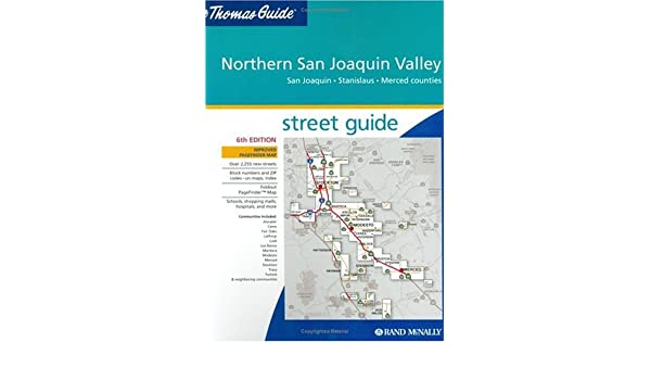 Thomas Guide Northern San Joaquin Valley California San Joaquin