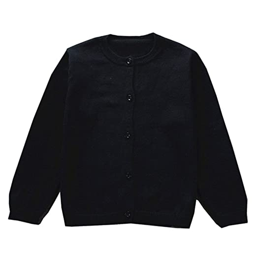 564ce36b9e04 Amazon.com  GSVIBK Girls Cotton Cardigan Baby Long Sleeve Button ...