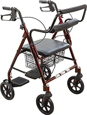 AI XIN Shop Andador plegable para carrito de la compra con asiento ...